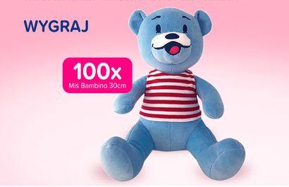Wygraj Misia Bambino - 100 szt. czeka! Konkurs na maskotkę. Aktualny konkurs dla dzieci, konkurs promocyjny. konkurs przedmiotowy