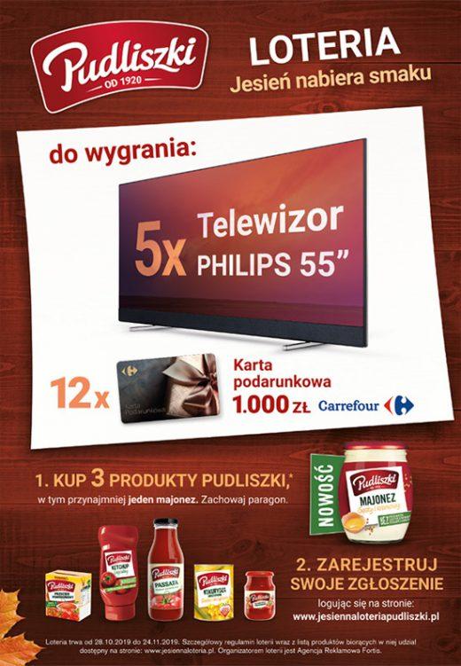 """Loteria promocyjna """"Jesień nabiera smaku""""."""