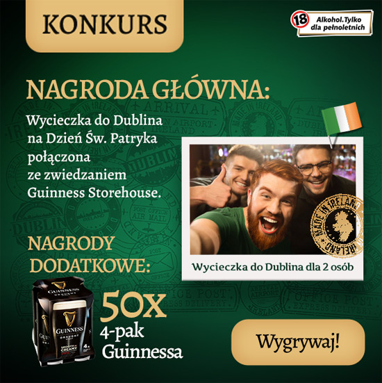 Odkryj w sobie Irlandczyka to konkurs marki Guinnessa.