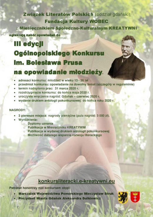 "Konkurs literacki ""im. Bolesława Prusa""."