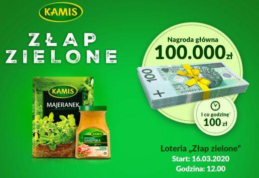 Loteria promocyjna Kamis - wygraj pieniądze