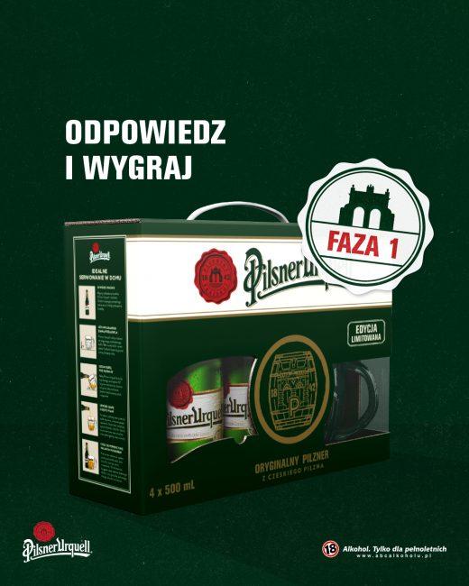 Wygraj piwo Pilsner Urquell -konkurs promocyjny