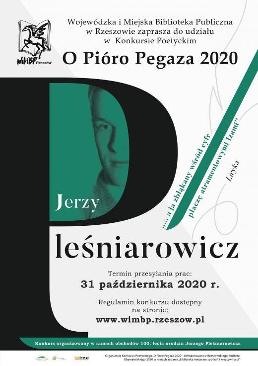 """Konkurs poetycki """"O Pióro Pegaza 2020"""""""