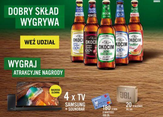 Loteria promocyjna Okocim 2020 - wygraj telewizor