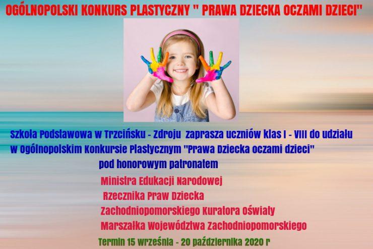 """Konkurs Plastyczny """"Prawa Dziecka oczami dzieci"""
