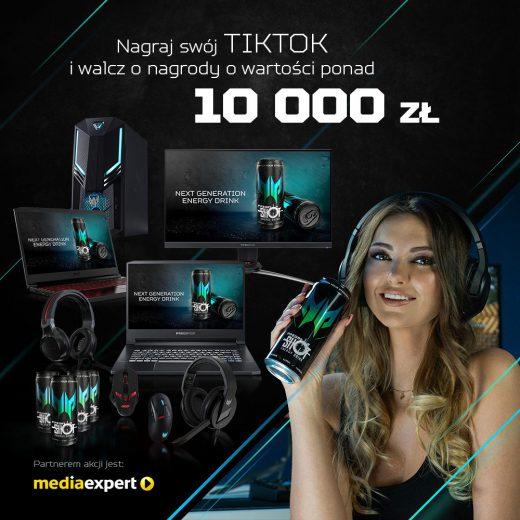 Nagraj TikToka z PredatorShot i wygraj!