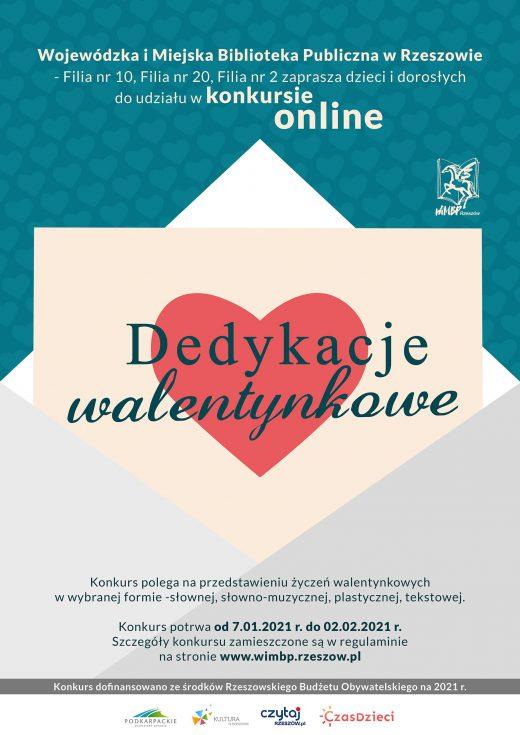 """Konkurs online """"Dedykacje Walentynkowe"""""""