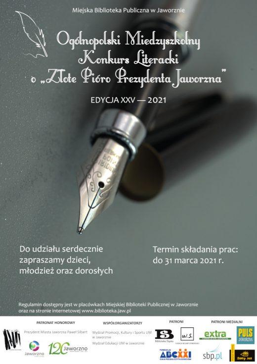 """Konkurs o """"Złote Pióro Prezydenta Jaworzna"""""""